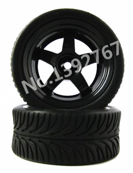 4Pcs <font><b>RC</b></font> Remote Control Car <font><b>Wheel</b></font> Rim and Tire Touring Tires Flat Run Tire For 1/10 Scale Models Room <font><b>Rally</b></font> Cars Traxxas HSP image