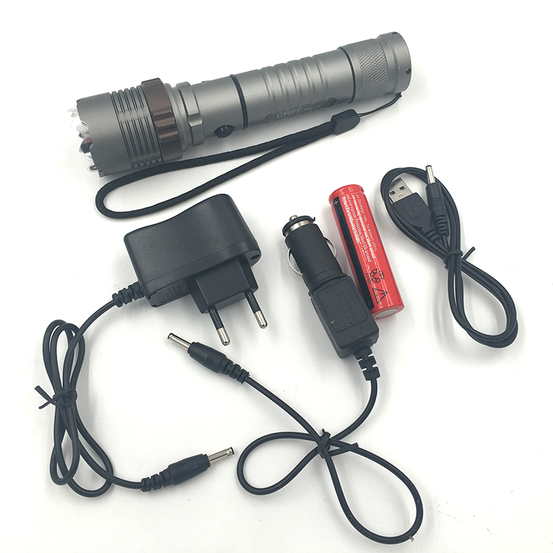 2622B LED Flashlight 18650 zoom torch waterproof flashlights XM-L T6 3800LM 5 mode led Zoomable light For 3x AAA or 3.7v Battery 2622b led flashlight 18650 zoom torch waterproof flashlights xm l t6 3800lm 5 mode led zoomable light for 3x aaa or 3 7v battery