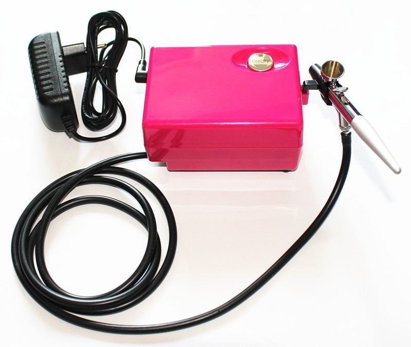 цена на Salon Airbrush makeup system kit nail art with single action airbrush AC01RK