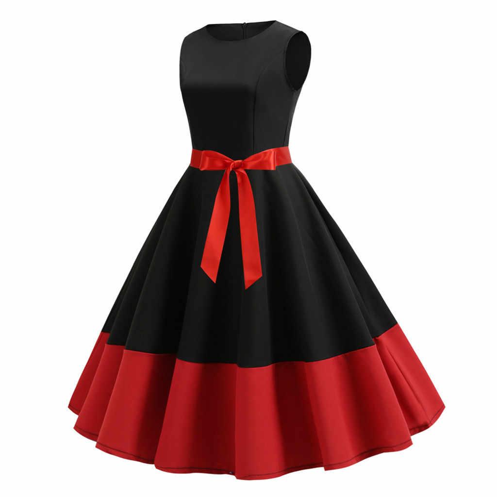 Vestido Elegante Mujer Cuello Redondo Lazo Fajas Vestido De