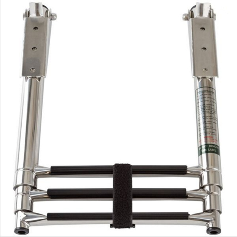 Boat Accessories Marine 3 Step Telescoping Folding Ladder Platform Boarding Swim For Boat Marine