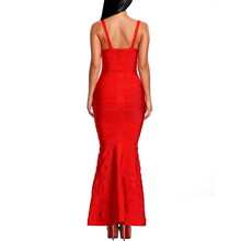 V-Neck Sleeveless Backless Fishtail Dresses