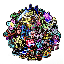 50 pcs Neon Stickers for Children Toy Phone Laptop Travel Luggage Car Styling Bike Motorcycle Cool Funny Sticker Bomb Decals