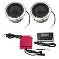 12 v 40 w universal scooters orador sistema de áudio à prova d' água com led Display/Slot Para Cartão TF/Usb/FM rádio