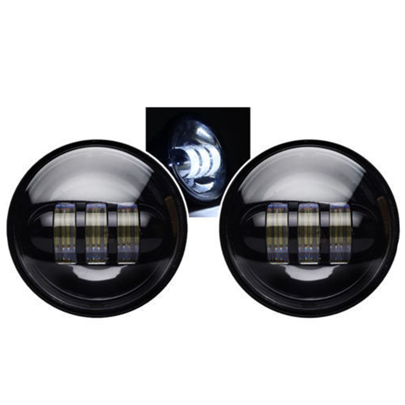 2017 New Arrival 2Pcs 4.5 Inch Led Motorcycle Headlights 30W DC10-30V Moto Led Headlamp 1260lm/pc Fog Lights for Harley