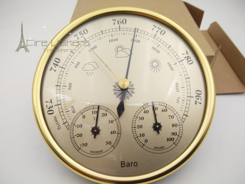 New 1pcs Wall mounted household thermometer hygrometer high accuracy pressure gauge air weather instrument barometers