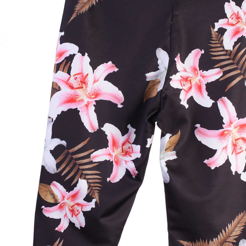 2018 Nieuw Stijl Vrouwen Dames Fashion Casual Skinny Avtive Broek Lange Lengte Elastische Taille Bloemenprint Hoge Taille Potlood Broek