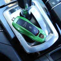 3 pz/1 set Verde Fob Caso Chiave A Distanza Copritastiera Modificato Shell Chiave a Sostituire Refit Porsche Boxster Cayman 911 Panamera Cayenne Macan