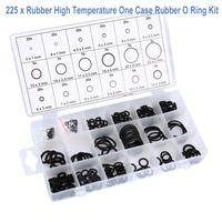 Vodool 225 pçs 18 tamanhos o anel borracha arruela selo sortido kit o ring selos conjunto para acessórios de reparo da gaxeta do carro com conjunto de caixa|o rings kit|rubber o ring kitso ring -