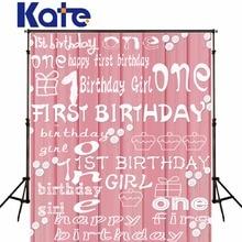 Kate Photographie Milieux Sans Plis 1er Anniversaire Rose Photo décors Lettre Photographique caméra pour les enfants
