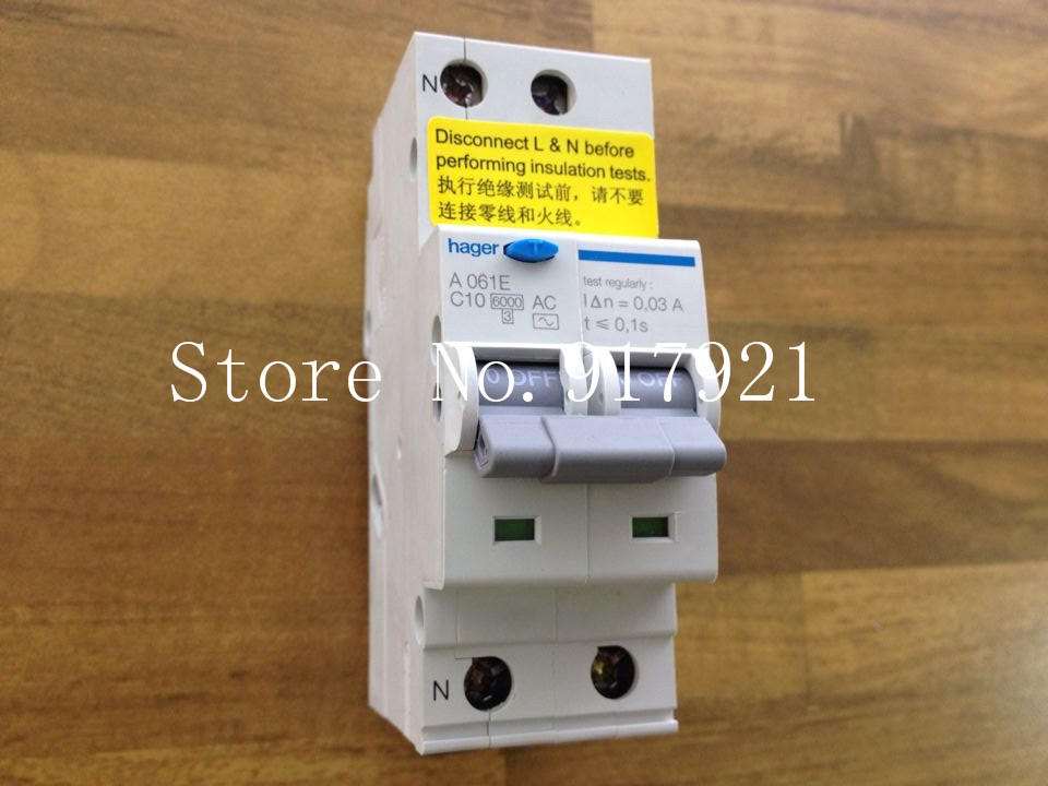 [ZOB] The German ORIGINAL A061E 10A electronic Hagrid leakage breaker type A061G residual current circuit breaker  --5pcs/lot
