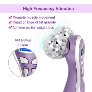 Image 5 - Micro Dòng Điện Rung Máy Massage 4D Con Lăn Máy Mát Xa Da Mặt Y Hình Xoay V Mặt Nâng Mặt Massage Da Se Khít Máy