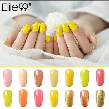 Elite99 10 ml Nagel Gel für Nail art Tränken Weg Von UV Bunte Gel Nagellack Langlebig Gel Lack Maniküre pick 1 Von 24 Farben