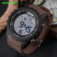 SANDA New Model Sport Wristwatch Men Watch Fashion Digital LED Military Watch Timing Popular Waterproof Outdoor