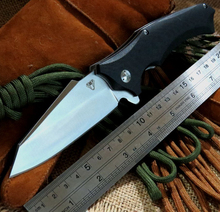 Good Quality Item Snake head G10 folding knife Imitate Medford knife Use 9cr steel +Hardness 59HRC ball bearing knives
