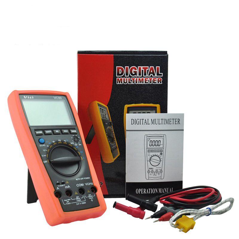 цена на ViCi VC99 Digital Multimeter Vichy Original 3 6/7 Auto Range DMM AC DC Ammeter Voltmeter Capacitance Resistance TemperatureMeter