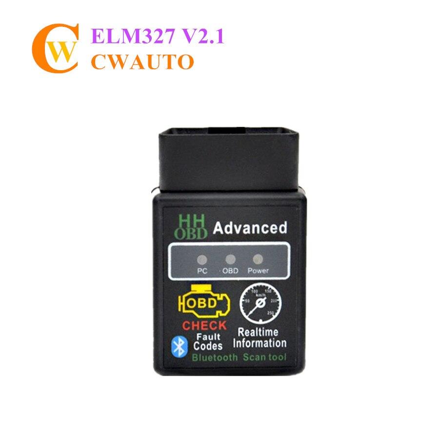 סופר המיני ELM327 V2.1 HH OBD מתקדם Bluetooth Elm327 OBD2 כלי סריקה עבור אנדרואיד