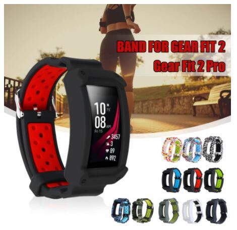 100pcs Adjustable Smart Watch Wrist Watch Bands Belt Protective Frame Strap for Samsung Gear Fit2 Gear