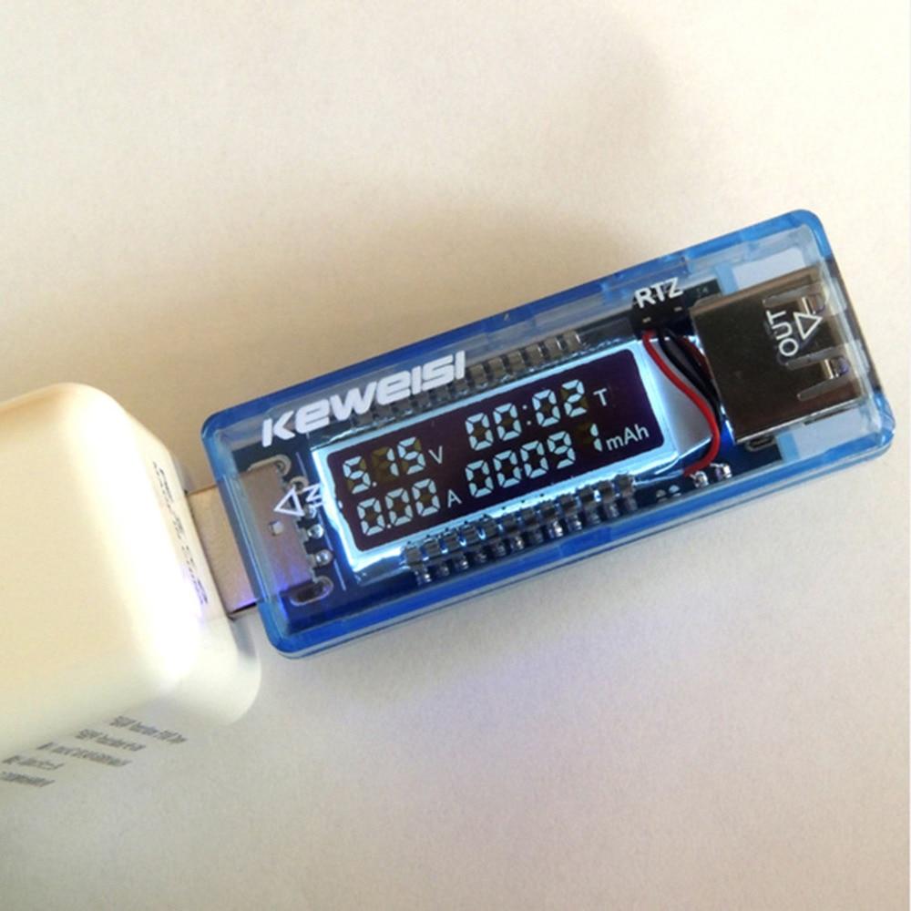 ردیاب USB LCD ولتاژ USB ولتاژ کنونی ولتاژ - ابزار اندازه گیری