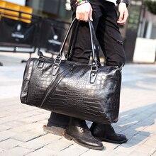 Tidog Large capacity men travel bag Crocodile Leather Laptop bag big travel bag