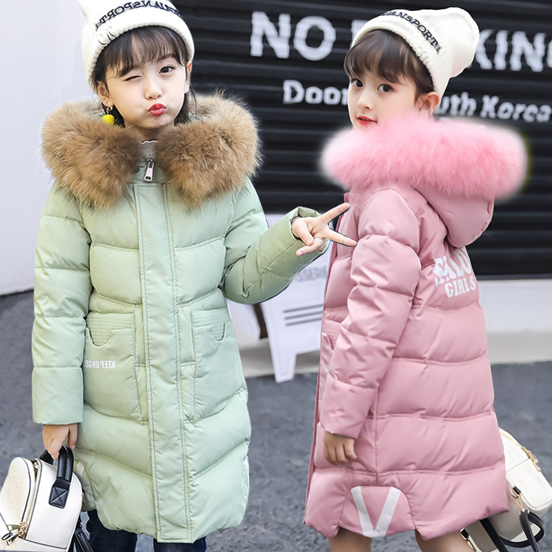 Girls Down Jacket Warm Coat For Girl Brand White Duck Down Coat Winter Kids Long Parkas Fashion Children's Outerwear 6-12 Yrs блендер zigmund