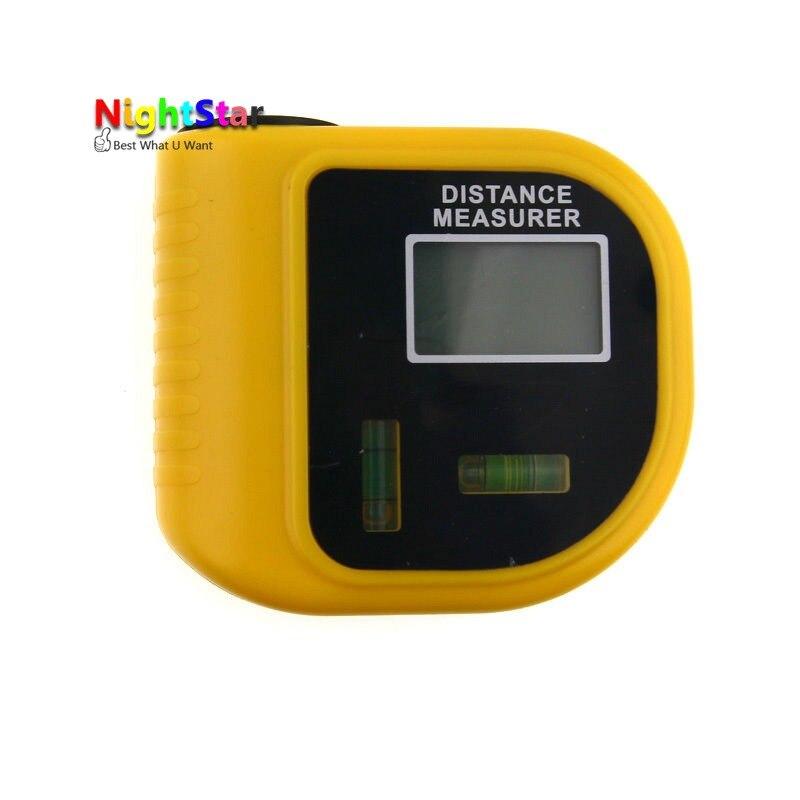 18 м Мини Ультразвуковой Цифровой Клейкие ленты измерьте лазерный дальномер измеритель расстояния и лазерная указка уровня дальномер инстр...