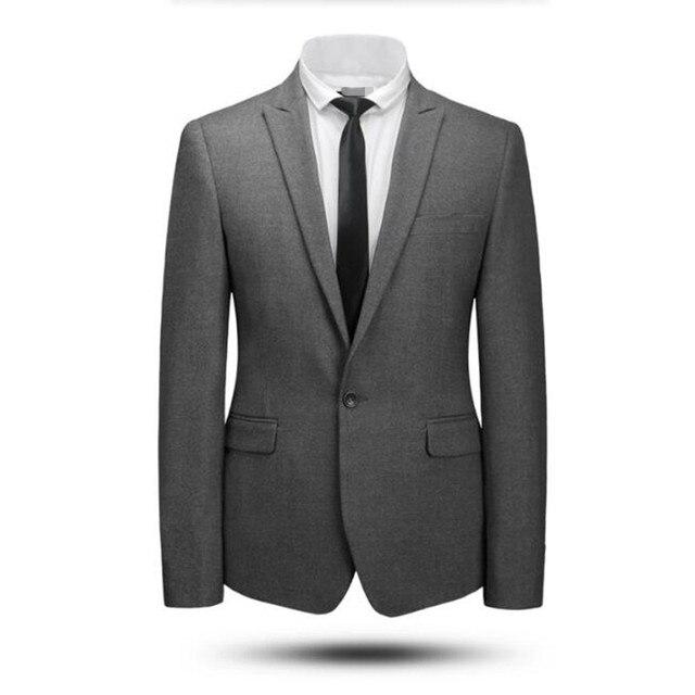 Серый и черный мужские костюмы куртка шерсти смешанная свадебные смокинги куртка индивидуальные формальные деловые костюмы куртка