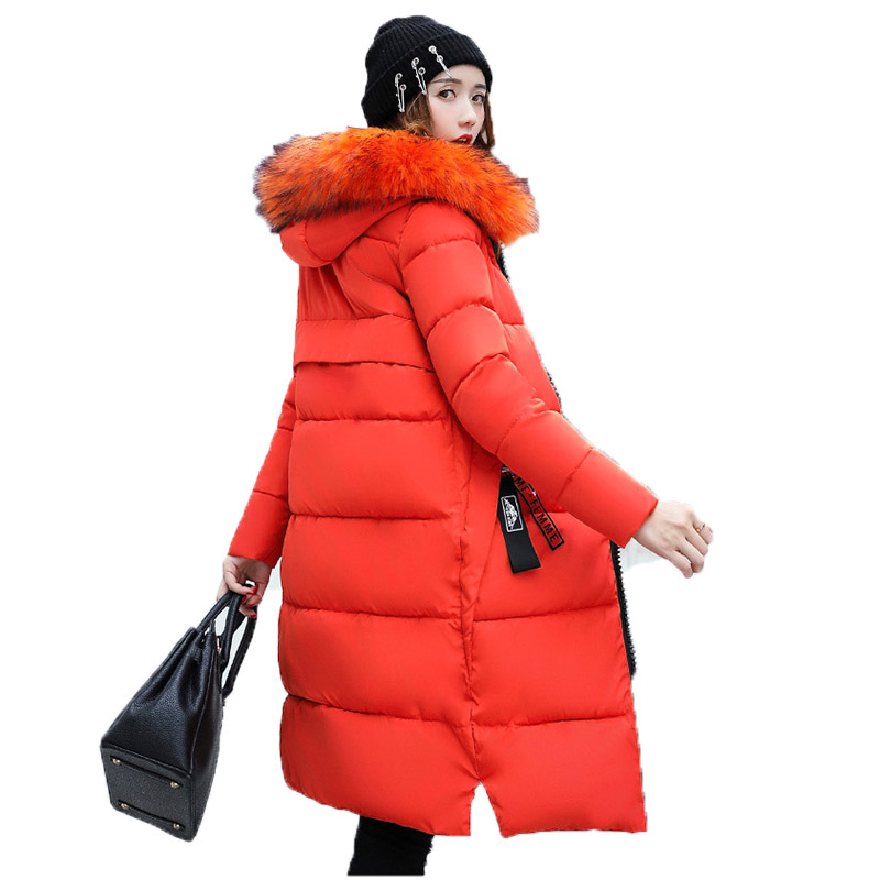 gray Parka Outwear Color Hiver Fourrure Veste Black Haute 2018 Femelle Femmes De Qualité Arrivée Chaud army orange Col red À Green Nouvelle Épaissir Grand caramel Long Manteau Capuche Parkas qnx7ZvBfx