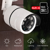 SDETER Bullet IP Camera Wi Fi Waterproof Surveillance Outdoor Camera Built In 16G Memory Card Camera