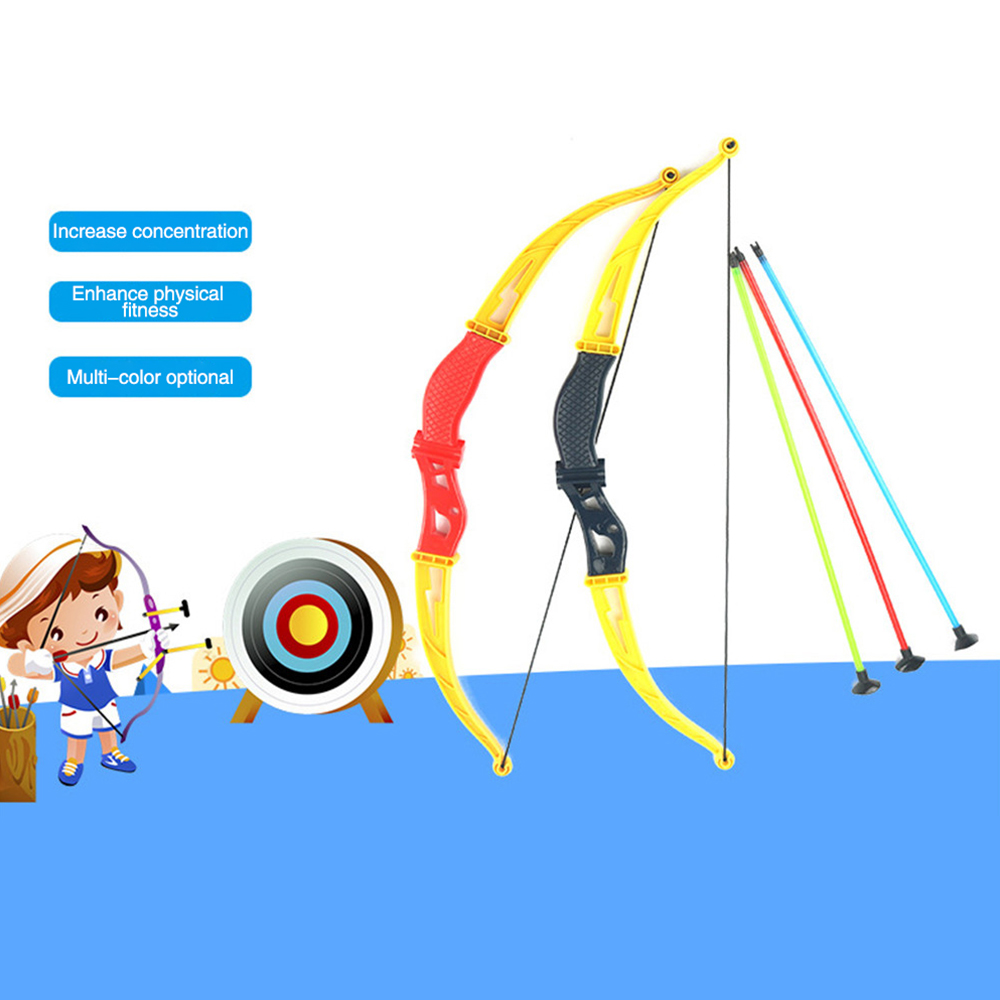 Children's Plastic Toy Bow And Arrow Set COS Show Ancient Bow And Arrow Indoor Sports Learning Parent-child Exchange Toy 1518