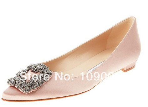new spring  2016 women genuine leather wedding shoes Brand pointed Single shoes Diamond square buckle women flats big size:35-41 new 2017 spring summer women shoes pointed toe high quality brand fashion womens flats ladies plus size 41 sweet flock t179