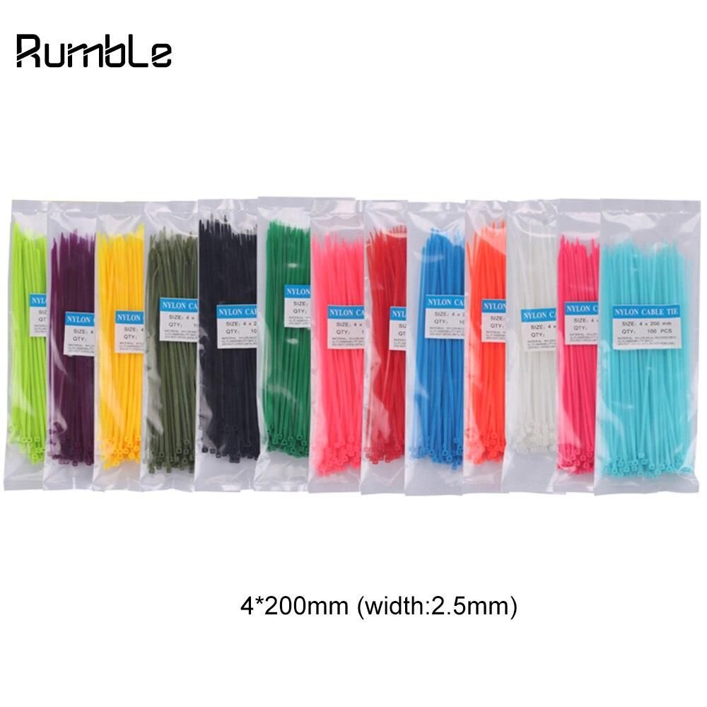 100 X fuerte Negro Blanco Y mixtos Color Nylon Plástico cable de lazos zip Tie Wraps