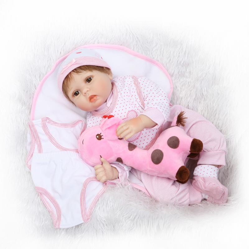 55cm Soft Reborn Baby Doll Beautiful Girl Doll Real Touch Vinyl Silicone Best Toys and Gift for Children55cm Soft Reborn Baby Doll Beautiful Girl Doll Real Touch Vinyl Silicone Best Toys and Gift for Children