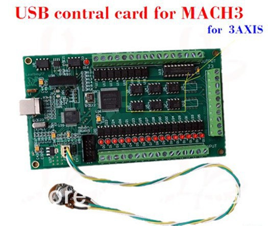 USB CNC control card for 3axis CNC Router Mach 3 software