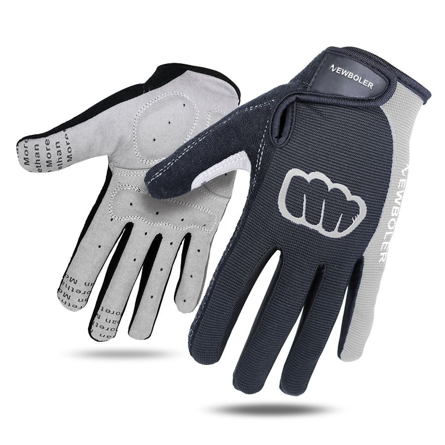 NEWBOLER ciclismo guantes dedo completo deportes antideslizante almohadilla de Gel de camino de MTB bicicleta DE LA BICI, guantes invierno, guantes invierno largo dedo