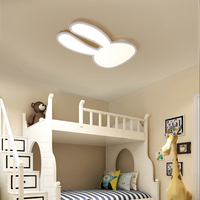 NEO Gleam Pink Or White Surface Mounted Modern Led Ceiling Lights For Children Kid Room Rabbit