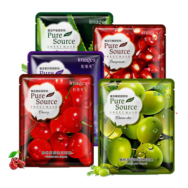 Red Pomegranate Cherry Aloe Olive Lavender Factory Facial Mask Moisturizing Oil Control Facial Mask Remove Acne Treatment