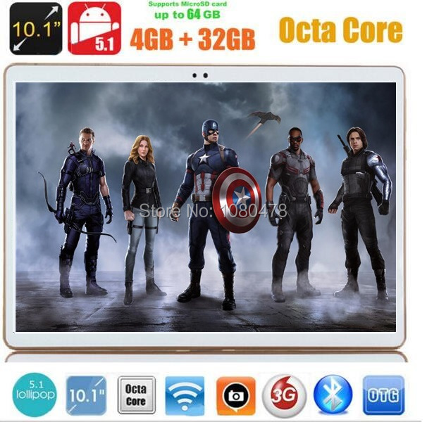 10 inch tablet pc 4G LTE Octa Core 4GB RAM 32GB ROM Android 5 1 IPS