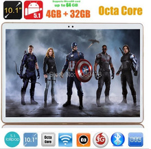 10 pulgadas tablet pc 4G LTE Octa Core 4 GB RAM 32 GB ROM Android 5.1 Phablet IPS GPS wifi 5.0MP 10.1 MID DHL envío
