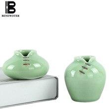 2PCS/LOT Chinese Traditional Cheongsam Cute Ceramic Porcelain Celadon Vase Ornament Home Decor Floret Hydroponics Flower Vase