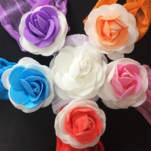 1 шт. / Лот головные уборы дети повязка на голову потертые цветы чистая пряжа вискоза дети цветок