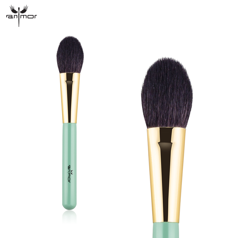 Индивидуальные Фирменная Новинка щетки и инструменты козьей шерсти зеленый лица Blush Brush MN01