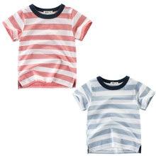 лучшая цена Summer New Striped Children T Shirts Boys Kids T-Shirt Designs Teen Clothing For Boys Baby Clothing Girls T-Shirts