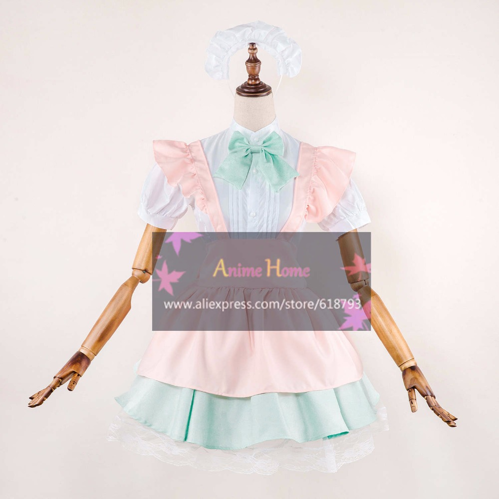 2017 new alice in wonderland dress halloween cosplay costumes 2 colors cute female beautiful dresses S,M,L