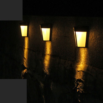 1pcs LED Solar Power Light Control Wall Light 6 LED Outdoor Waterproof Energy Saving Street Yard Path Home Garden Security Lamp