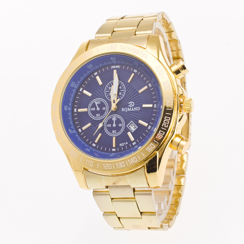 mens watches top brand luxury gold wathes business geneva quartz wrist watches with canlender relogio masculino clock 0050 mens watches top brand luxury gold