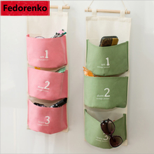 Canvas Wall hanging organizer with pockets office storage bag for sundries door organizadores para casa organizador