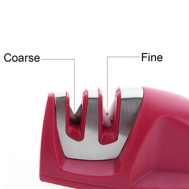 Mini Kitchen Knife Sharpener two Stages (Diamond & Ceramic)