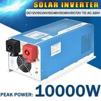 10000 Вт Max DC12V/24 В/48 В/72 В к AC 220 В автомобиля домой внутренней чистая синусоида солнечный Мощность инвертор с UPS Зарядное устройство конвертер к