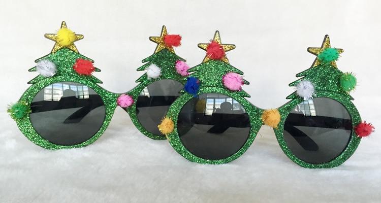Wholesale Free Shipping Christmas Tree Sunglasses Novelty